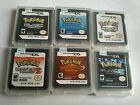 NEW Pokemon Black White Soulsilver HeartGold For  DS Console