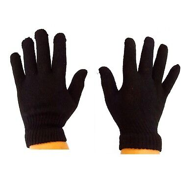 2 Pair Of Men's Winter Essential A Pair Of Black Magic Gloves