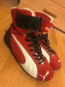 Details about Authentic Puma Race Driving Boots FIA ISO Complied UK5 US6  EU40 Rare Collectible