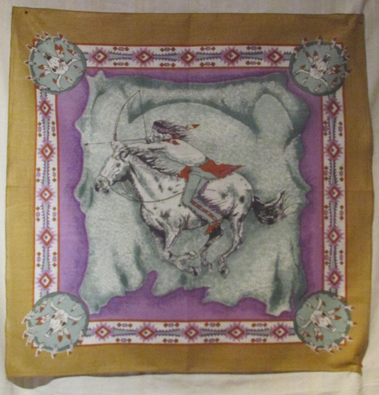 #B06 Bandana Halstuch Biker Kopftuch 100%Baumwolle Tuch Nikki Indianer Pferd USA
