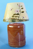 Home Interiors Candle Shade Topper New, Yellow Floral, Ceramic, 5.5 Diameter