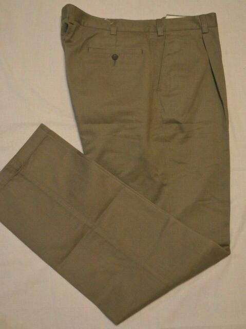 AUSTIN REED WRINKLE FREE TROUSERS 36R 37W 31.5L NAVY COTTON PLEAT FRONT
