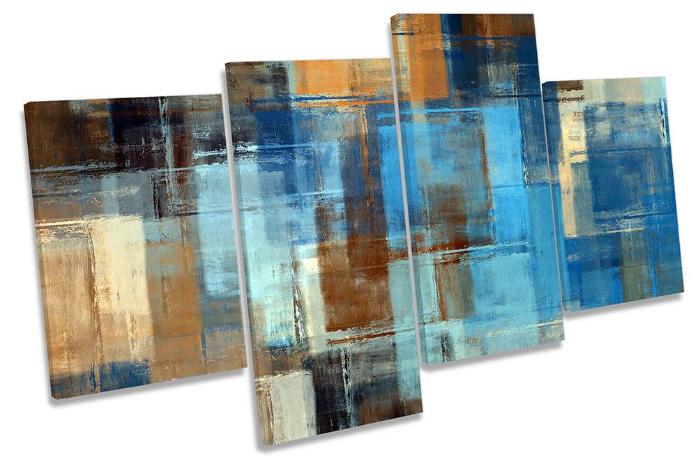 Blu astratto Grunge incorniciato Multi stampa art. a muro