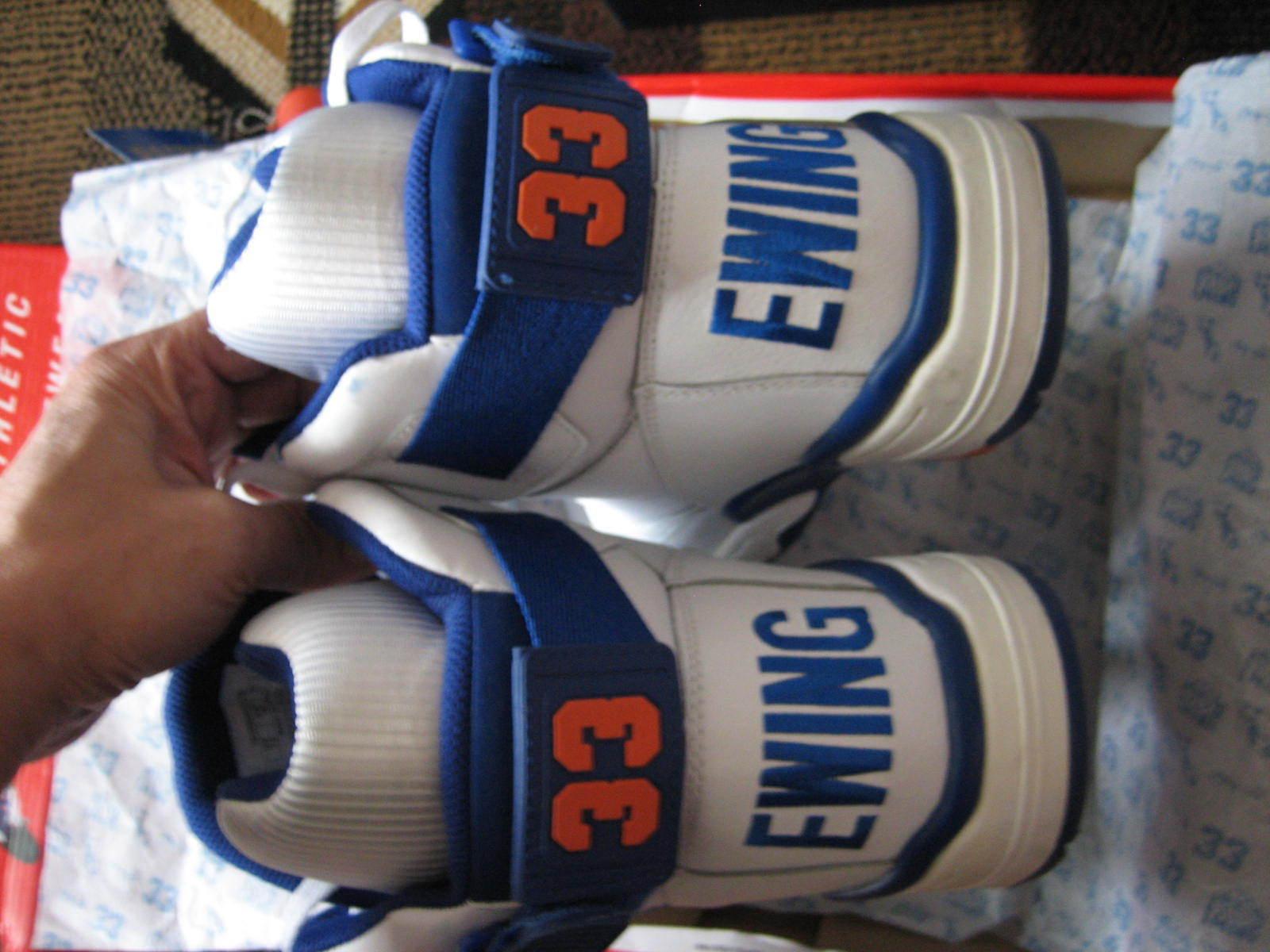 Ewing 33 HI  - Knicks OG Patrick Ewing - White Royal Game bluee orange - US 12