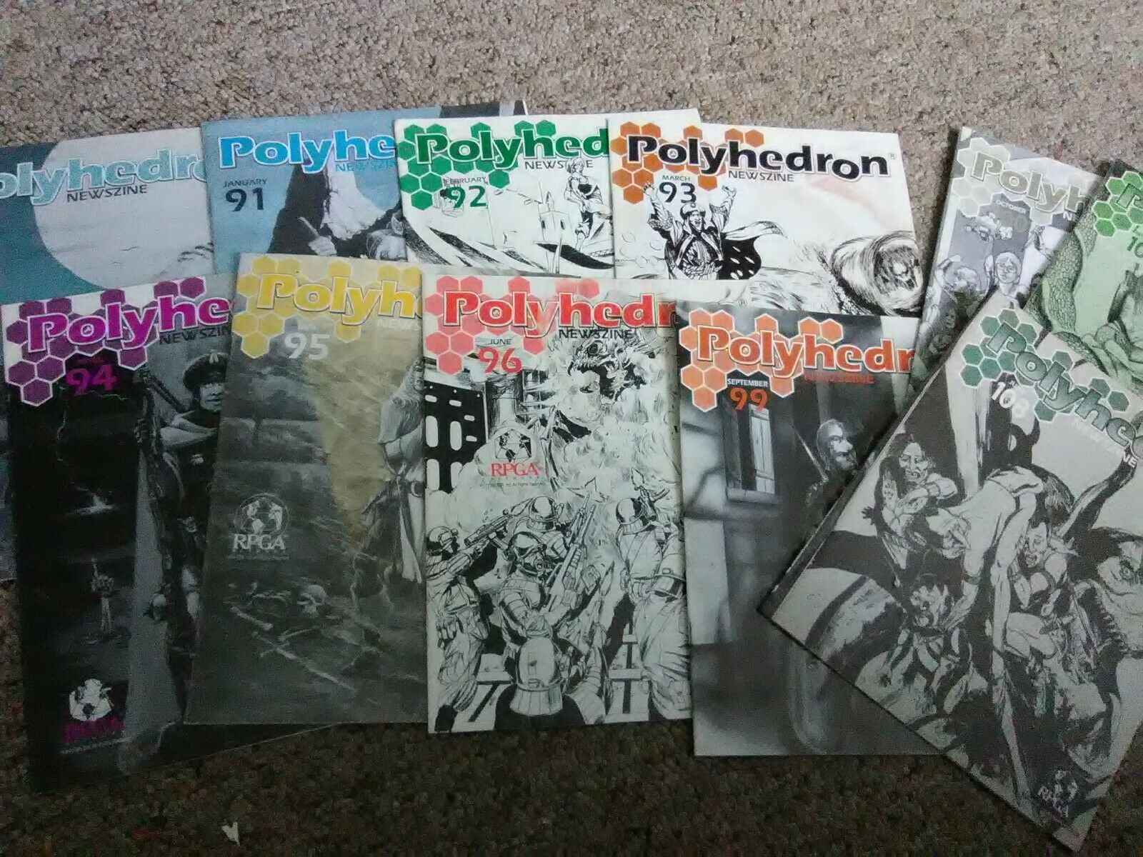 Dungeons & drakes AD &D Polyhedron Magazine Lot Newzines 90 -96, 99, 100, 102 108