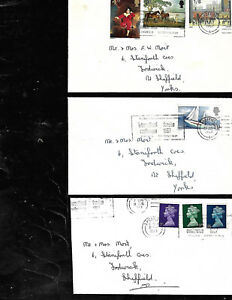 Stamps UK  3 envelopes stamped 034International Forging Conference 1967034 - Manchester, United Kingdom - Stamps UK  3 envelopes stamped 034International Forging Conference 1967034 - Manchester, United Kingdom