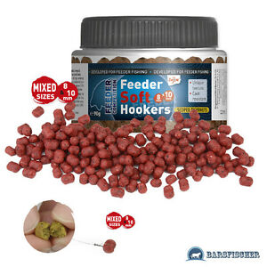 38-89EUR-1KG-90g-CARP-ZOOM-FEEDER-SOFT-HOOKERS-MIX-8-amp-10mm-KARPFEN-BOILIES