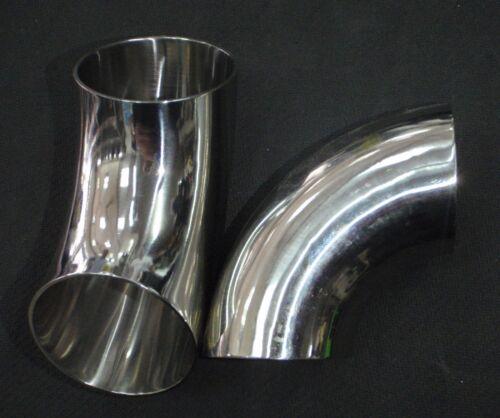 "WDLB175 STAINLESS STEEL WELD 90 ELBOW 1 3//4/"" SANITARY PIPE TUBING 45mm"