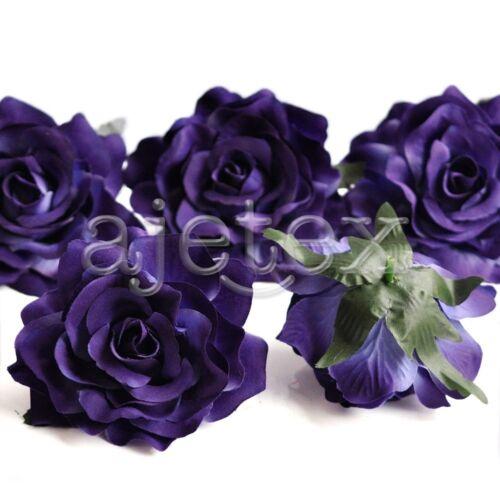 5pcs Wholesale Artificial Flower Heads Big Rose Craft Wedding Party Decor 10cm