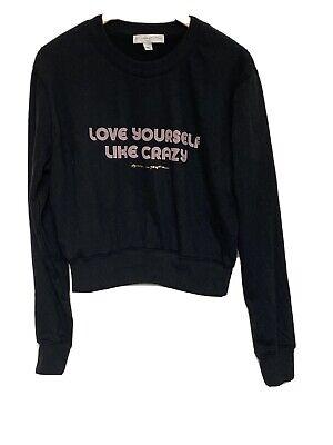 Spiritual Gangster only love crop sweatshirt light blue sky pullover sz xs s m l