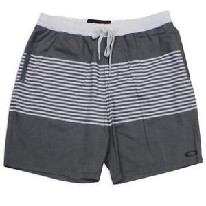Oakley-SPIKE-Boardshorts-Size-36-XL-Mens-Grey-Stripe-Casual-Board-Walk-Shorts