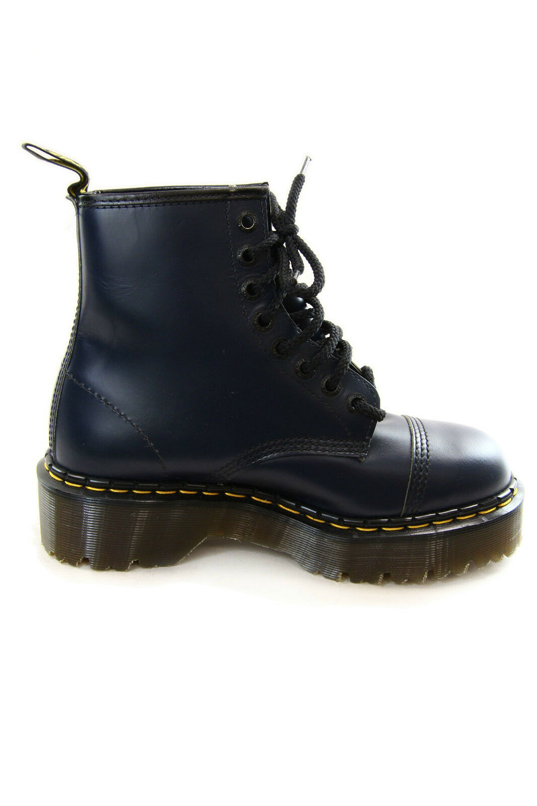 Dr. Martens 100% Vintage Boots Navy Smooth 8 Logo Eyelet 100% Martens Made in England 135ccb