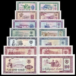 UNC Banknotes: 200 500 5000 leke 2000 1000 Full Set Albania Paper Money