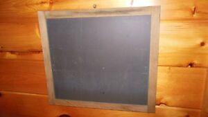 Vintage Wooden Framed Real Slate CHALKBOARD / Thick Heavy Chalkboard