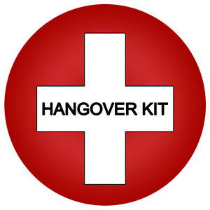 Personalised Hangover Kit Stickers Wedding Favour Party