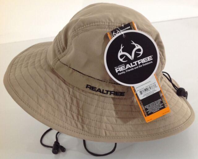 New Realtree Bucket Sun Hat Large Brim Vented Khaki Tan RTHM76402 One Size 439e4ef6c9b