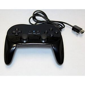 Nintendo-Wii-U-Replacement-Pro-Controller-Black-By-Mars-Device-Brand-New-0Z