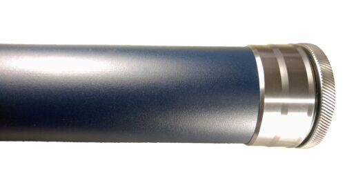 """BLUE  HARD COATED  ANODIZED ALUMINUM ROD TUBE 2/"""" DIA 33/"""" LONG"""
