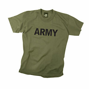 97d801a9 Rothco 66136 Kids Army Physical Training T-Shirt - Olive Drab | eBay