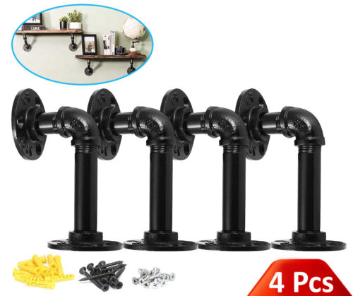 BLACK B/&Z Industrial Plumbing Pipe Oak Mental Scaffold Board Shelf Brackets