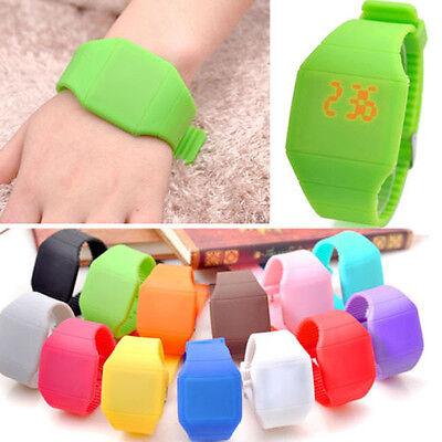 Classical Unisex Boy Girl Touch Screen LED Digital Silicone Sport Wrist Watch BL