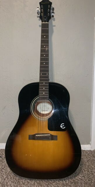 326ebd4208 Sunburst Epiphone Aj100vs Flat Top Acoustic Guitar for sale online ...