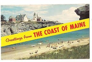 Greetings from the coast of maine name band 2 views lighthouse me image is loading greetings from the coast of maine name band m4hsunfo