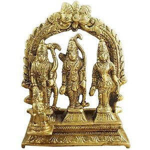 Laton-Antiguo-Hecho-Lord-RAM-Darbar-Religioso-Indio-Arte-Estatua