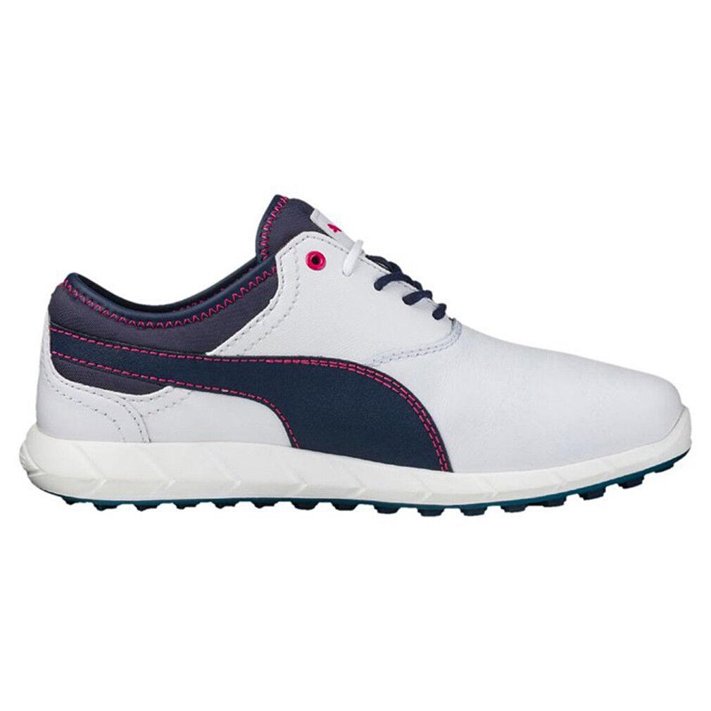 8193919674e PUMA Womens Ladies Ignite Spikeless Golf Shoes Trainers White Dark ...