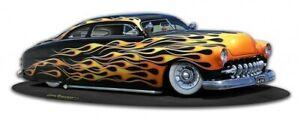 1949-Merc-Mercury-Custom-US-Car-Plasma-Cut-Metal-Sign-Retro-Blechschild-Schild