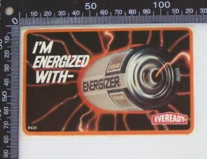 VINTAGE-I-039-M-ENERGIZED-WITH-ENERGIZER-EVEREADY-BATTERIES-ADVERTISING-SHOP-STICKER