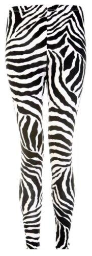 WOMENS GIRLS FULL LENGTH STRETCH PRINT PATTERN LEGGINGS JEGGINGS PANTS SIZE 8-22