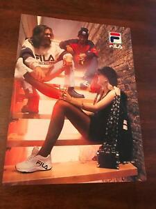 1994 VINTAGE 9X12 LONDON/UK PRINT Ad FOR FILA SHOES/CLOTHING SNEAKER TEAM ITALIA