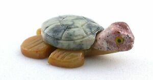 Jasper Sea Turtle Carving Carved Gem Stone Gemstone Peru EBS8968