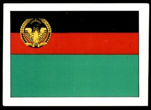 Details about F&M Dobson Flags of the World (1980) Afghanistan No  2