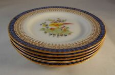 5 Royal Worcester Pattern 626 Pheasant Art Deco Cake Sandwich Side Plates VG