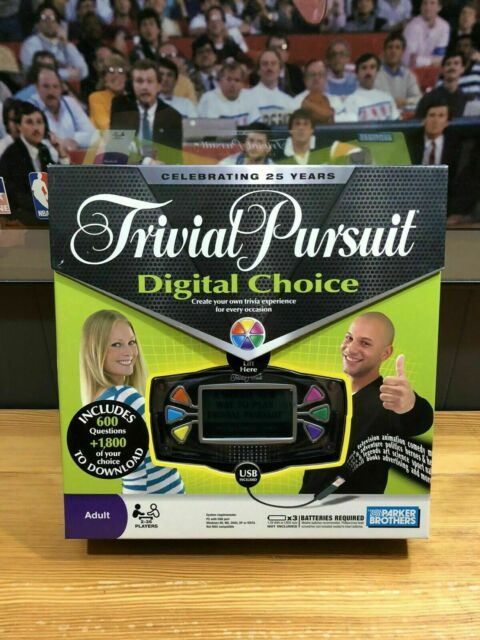Parker Brothers Trivial Pursuit Digital Choice Electronic Game New Sealed