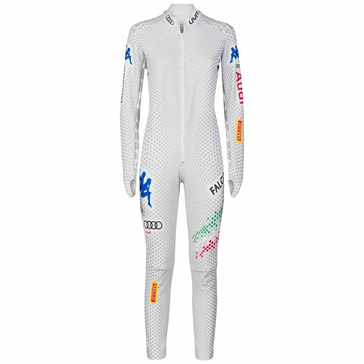 Kappa Ski Rennanzug Race Racing Speed Suit L Weiß Neu Italia National Team SG DH