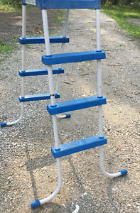 Swimming pool ladder 51 to platform 71 overall height - Above ground pool platform ...