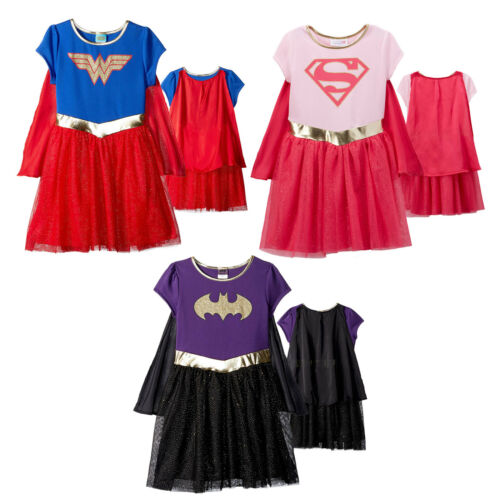 Officially Licensed Toddler Girls Wonder Woman Supergirl Batgirl Costume Dress