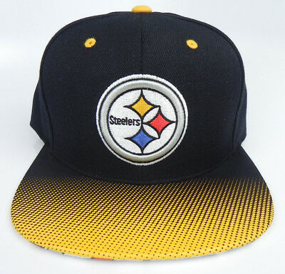 b82d7a72 PITTSBURGH STEELERS NFL MITCHELL AND NESS VINTAGE SNAPBACK 2-TONE CAP HAT  NWT! | eBay