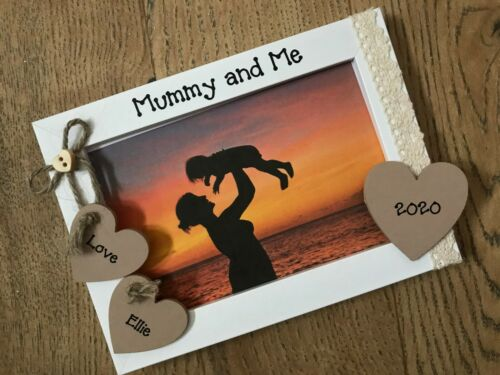 Personalised Vintage Mummy And Me Picture Photo Frame Birthday Gift ANY WORDING