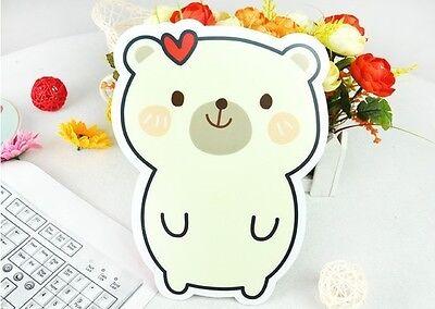 Slip-resistant Cute Cartoon Little White bear Shape computer mouse pad Mat