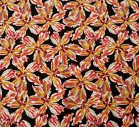 Tiger Lily Print By Blank Quilting Bty Floral Flowers On Black