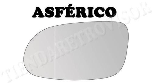 CRISTAL RETROVISOR MERCEDES CLASE A W168 1997-2003 ASFERICO