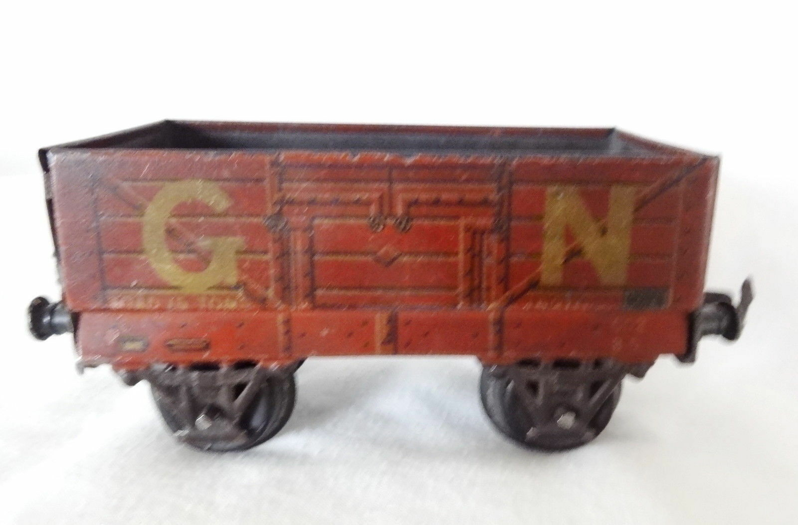 001T  Vintage Bing O-Messgerät Gn Offen Waggon