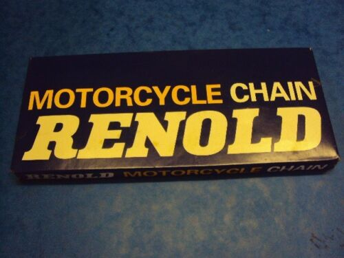 GENUINE RENOLD MOTORCYCLE REAR CHAIN 100 LINKS 5//8X3//8   TRIUMPH NORTON BSA