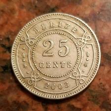 """1st portrait/"""" UNC Belize 25 cents 2007 km#36 /""""Elizabeth II"""