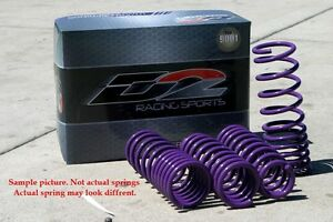 D2 Racing Lowering Sport Springs Set New for 15 16 17 Ford Mustang D-SP-FO-15-1