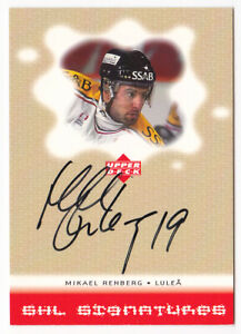 2000-01-Swedish-Upper-Deck-SHL-Signatures-MN-Mikael-Renberg-AUTO